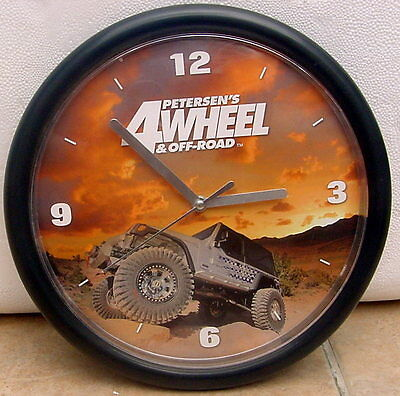 RARE Petersen's 4 Wheel & Off Road WALL CLOCK !! Promo Promotional