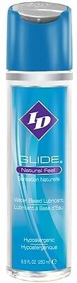 ID Glide Lube Water Based Natural Feel Personal Sex Lube Lubricant 8.5 OZ.