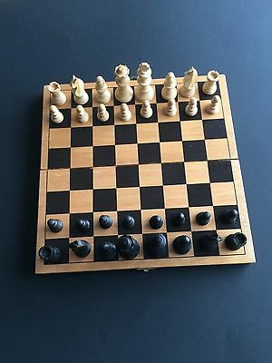 chess game -  wooden  -  see description