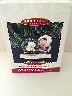 HALLMARK Frosty Friends Ornament 1994 with box.  EXCELLENT Condition