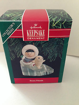 HALLMARK Frosty Friends Ornament 1990 with box.