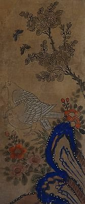 Very Fine Korean Joseon Dynasty MinHwa Birds, Butterflies & Flowers Painting