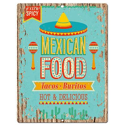 PP0537 Mexican Food Plate Chic Sign Bar Store Shop Cafe Restaurant Kitchen