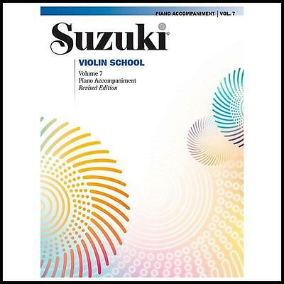 Alfred Suzuki Violin School Piano Accompaniment Volume 7 Book  Revised Edition