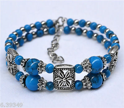 Free shipping Cute Classical Natural Hot Turquoise Tibet Fashion Bracelet