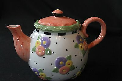 MARY ENGELBRIET TEAPOT FROM THE APRIL FLOWERS COLLECTION ME 2001