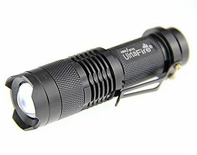 New 300LM ZOOM 3Modes Adjustable Focus Power CREE Q5 LED Flashlight Torch Light