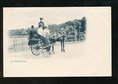 Ireland An Outside Car c1902 u/b unposted PPC