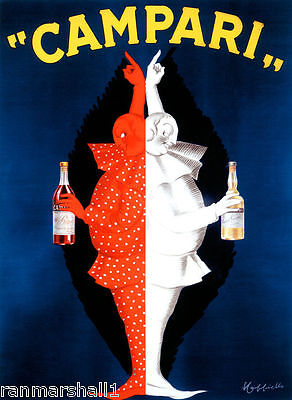 1900's Campari Wine France French Cognac Advertisement Art Poster