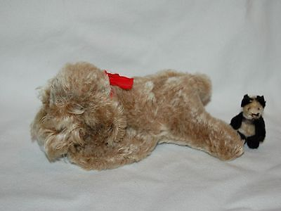 "Vintage 8"" STEIFF Mohair Dog Floppy Raudi with all IDs, 5637/18"