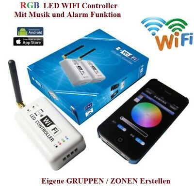 LED RGB WiFi WLAN Controller Musik Alarm Strip iPhone Android Smartphone 2.4 GHz