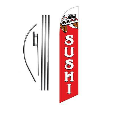 SUSHI 15' Feather Banner Swooper Flag Kit with pole+spike -ayce