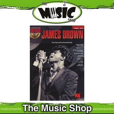 New James Brown Guitar Play Along Music Book & CD - Volume 171