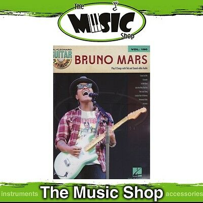 New Bruno Mars Guitar Play Along Music Book & CD - Volume 180