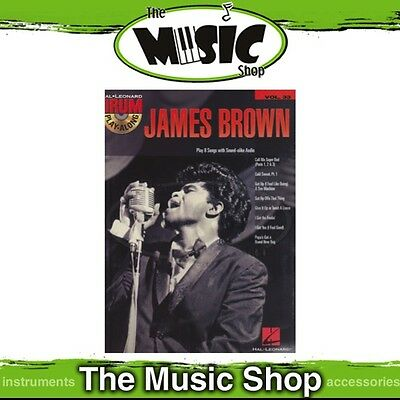 New James Brown Drum Play Along Music Book & CD - Volume 33