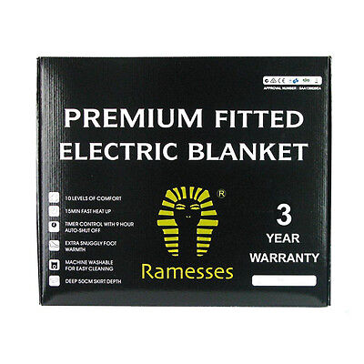 Brand New Ramesses Premium Electric Blanket Fitted - (Rfelb14)
