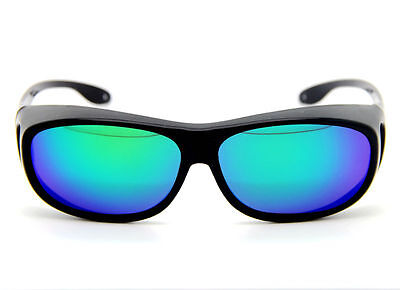 Polarized Plastic Wraparound Sunglasses UV GOGGLE Wear Fit Over Eyeglasses Glass