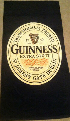 NWOT! * GUINNESS BEER * TRADITIONALLY BREWED 1759 ~DUBLIN,IRELAND~ BEACH TOWEL!