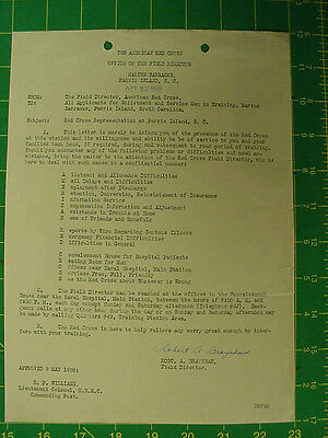 MCRD, Parris Island, Letter to all Recurits (Oct 22, 1928) from Red Cross, Dir.