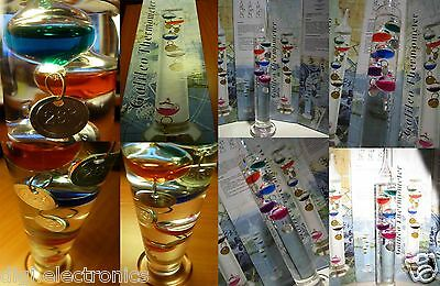 Galileo Thermometer - ATTRACTIVE SCIENTIFIC Thermometer Colorful Glass Baubles