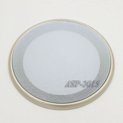 """6.5"""" Speaker Coaxial Steel Sub Mesh Grills Cover Gold Woofer Cover White 20CM"""
