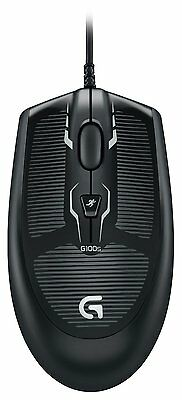 Genuine Logitech G100s Optical Gaming Mouse USB 2500 DPI for PC gaming Bulk BK