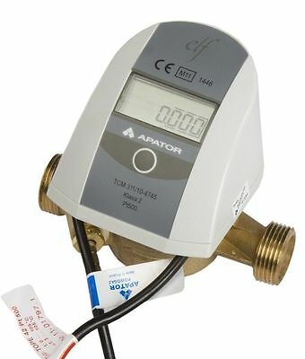 "ELF RHI Compliant Class 2 Heat Meter 1/2"" Qp1.5 with Connections & Fittings"