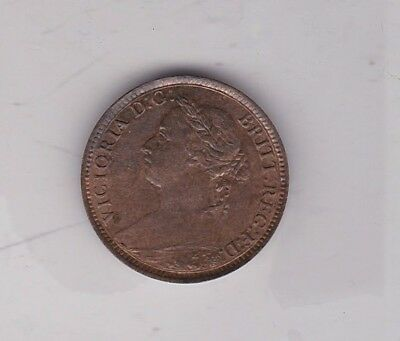 1883 Victoria Bronze Farthing In Near Mint Condition