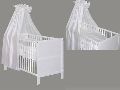 babybett kinderbett wei bettw sche bettset komplett neu blau gr n pink gelb eur 159 95. Black Bedroom Furniture Sets. Home Design Ideas