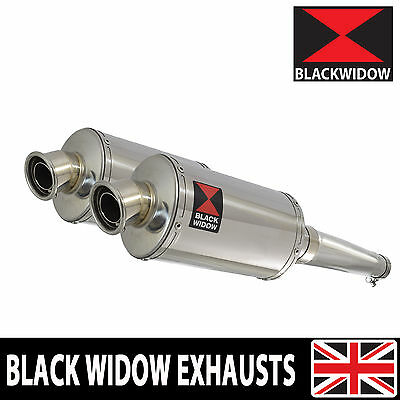Kawasaki Zzr 1200 4-2 Exhaust Silencer Kit Oval Stainless Steel Silencers 230Ss