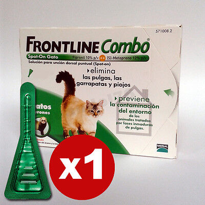 Frontline Combo Spot-On (Gatos Y Hurones) - Antiparásitos - 1 Pipeta • EUR 5,99