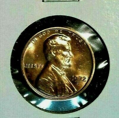 1972 - S   Lincoln  Memorial  Cent  BU   Red  Nice  US Coin  Combined  Shipping