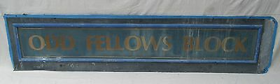 "10' Early 2Oth Century Tin ""odd Fellows"" Sign"