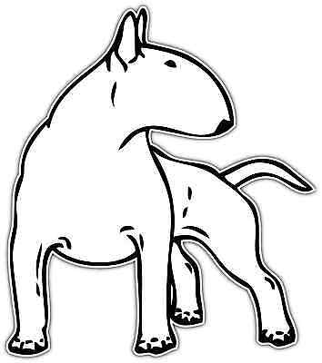 Bull Terrier Dog Pet Friend Car Bumper Window Vinyl Sticker Decal 4