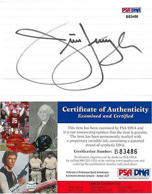 Jim Furyk Signed Authentic Autographed 3x5 Index Card PSA/DNA #B83486