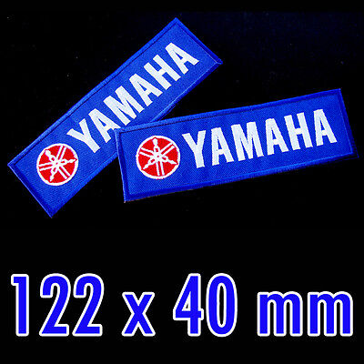 1x YAMAHA Super Blue Color Embroidered Iron on Patch Biker Racing MotoGP YZF-R15