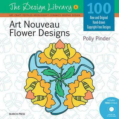 Design Library: Art Nouveau Flower Designs (DL06) by Polly Pinder (English) Free