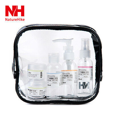 Naturehike 8 Piece Travel Pack Plastic Travel Bottles Set Travel Tube Containers