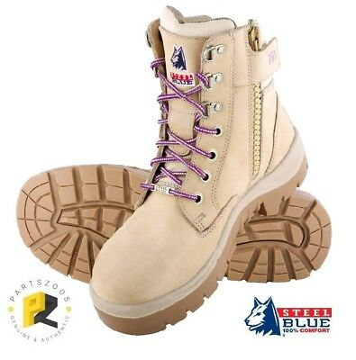 Steel Blue Southern Cross Zip Ladies Safety Boots Steel Cap 522761