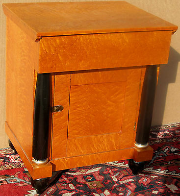 Antique Federal Solid Birds Eye Maple Bedside Cabinet