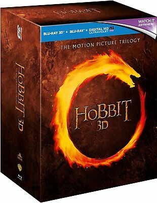 The Hobbit Trilogy (Unexpected Journey, Smaug & 5 Armies) (3D Blu-Ray) (C-12)