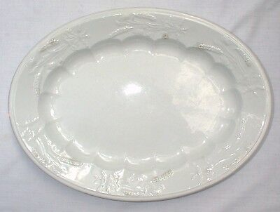 Canada Wheat and Poppies Ironstone Platter Royal Opaque China
