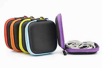 Storage Bag Carrying Hard Hold Case For Earphone Headphone Earbuds SD Card
