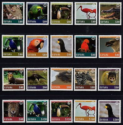 Guyana Birds & Animals Set 20  MNH