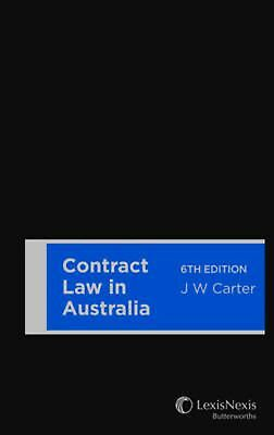 Contract Law in Australia by John W. Carter Paperback Book