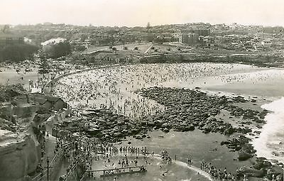 A0 Vintage Sydney beach Bondi Bronte Nsw photo old landscape black white print