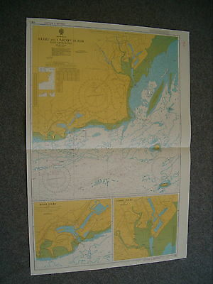 Vintage Admiralty Chart 1182 WALES - BARRY & CARDIFF ROADS (35 YRS OLD) 1979 edn