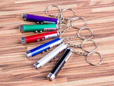 NEW 2In1Red Laser Pointer Pen W/LED Light Kid Cat Toy Money Detector Multicolor