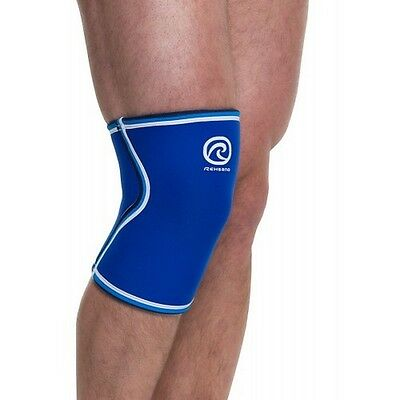 CROSSFIT KNEE SUPPORT REHBAND BlueLine 7084 Rx CORE LINE KNIEBANDAGE - Blue 7mm
