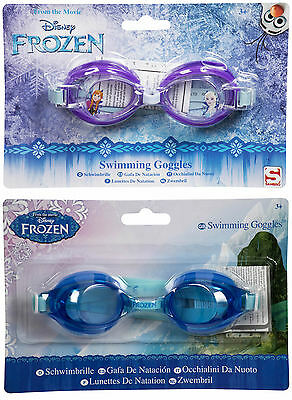Girls Kids Childrens Disney Frozen Elsa Anna Olaf Swimming Glasses Goggles 3+